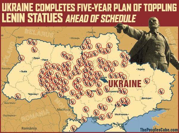 Ukraine_Lenin_Statues
