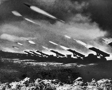 Katyuska barrage at the start of Operation Bagration June 22nd 1944