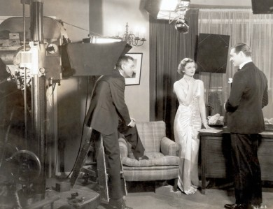 Glark Gable & Myrna Loy On A Movie Set