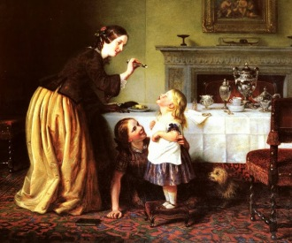 cope charles west Victorian Painter 1811 – 1890 5 stars phistars time adorable family painting