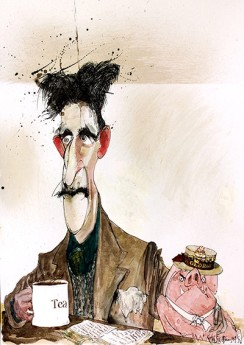 George Orwell and a pig